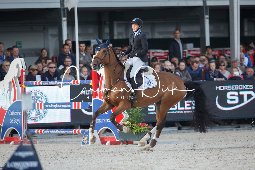 Andersson Petronella (SWE) - Hilgarie<br /> Final 7 years<br /> FEI World Breeding Jumping Championships for Young Horses - Lanaken 2014<br /> &copy; Dirk Caremans