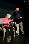 Margaret Barraclough & Mike McCarthy In rehearsal for In praise of an English radical - A Celebration of Linda Smith, Lyceum Theatre Sheffield.