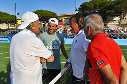 July 22, 2017 - France - Lucas Pouille - Flavio Panatta - Ilie Nastase - Mansour Bahrami (Credit Image: © Panoramic via ZUMA Press)