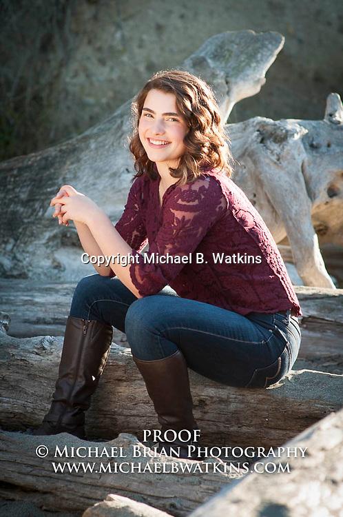 High School Senior Samantha Martin conducts a Senior portrait session Oct. 23, 2015 at Deception Pass State Park in Oak Harbor, Wash. Photo by Michael B. Watkins (Michael Brian Photography) www.michaelbwatkins.com