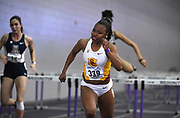 Feb 24, 2017; Seattle, WA, USA; Jasmyne Graham of Southern California wins women's 60m heat in 8.23 during the MPSF Indoor Championships at the Dempsey Indoor.
