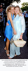 Actress SIENNA MILLER and her mother JOSEPHINE MILLER, at a party in London on 6th July 2004.PWW 258