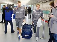 Fotball, 10. februar 2009 ,Trening foran privat-kampen mellom Norge og Tyskland<br /> Rune Almenning Jarstein og Erik Nevland , Norge