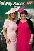 At the launch of The Galway Races summer festival 2015 were fashionista Marietta Doran and Milliner Suzi O Mahony .Photo:Andrew Downes:XPOSURE