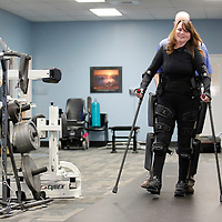 Thomas Wells   BUY at PHOTOS.DJOURNAL.COM<br /> Carla Bulue of Red Bay Alabama is all smiles as she leaves her wheelchair and walks around the physical therapy room at Longtown Medical Park.