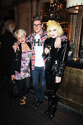 Left to right, JAIME WINSTONE, HENRY HOLLAND and PAM HOGG at a party to celebrate the 135th anniversary of The Criterion restaurant, Piccadilly, London held on 2nd February 2010.