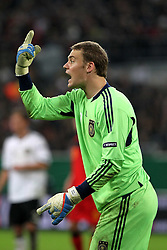 11.10.2011, Esprit Arena, Duesseldorf, GER, UEFA EURO 2012 Qualifikation, Deutschland (GER) vs Belgien (BEL), im Bild..Torwart Manuel Neuer (GER) gibt Anweisungen ..// during the UEFA Euro 2012 qualifying round Germany vs Belgium  at Esprit Arena, Duesseldorf 2011-10-11 EXPA Pictures © 2011, PhotoCredit: EXPA/ nph/  Hessland       ****** out of GER / CRO  / BEL ******