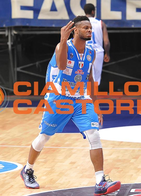 DESCRIZIONE : Cantu' Lega A 2015-16 Acqua Vitasnella Cantu' - Dinamo Banco di Sardegna Sassari<br /> GIOCATORE : MarQuez Haynes<br /> CATEGORIA : esultanza<br /> SQUADRA : Dinamo Banco di Sardegna Sassari<br /> EVENTO : Campionato Lega A 2015-2016 GARA : Acqua Vitasnella Cantu' - Dinamo Banco di Sardegna Sassari <br /> DATA : 12/10/2015 <br /> SPORT : Pallacanestro <br /> AUTORE : Agenzia Ciamillo-Castoria/A.Scaroni<br /> Galleria : Lega Basket A 2015-2016 Fotonotizia : Cantu' Lega A 2015-16 Acqua Vitasnella Cantu' - Dinamo Banco di Sardegna Sassari