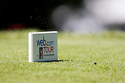 A Web.com Tour tee marker is seen on the 9th hole during the 2012 Price Cutter Charity Championship at Highland Springs Country Club on August 9, 2012 in Springfield, Missouri. (David Welker/www.TurfImages.com).