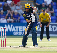 Glamorgan's Craig Meschede in action today <br /> <br /> Photographer Simon King/Replay Images<br /> <br /> Vitality Blast T20 - Round 8 - Glamorgan v Gloucestershire - Friday 3rd August 2018 - Sophia Gardens - Cardiff<br /> <br /> World Copyright &copy; Replay Images . All rights reserved. info@replayimages.co.uk - http://replayimages.co.uk