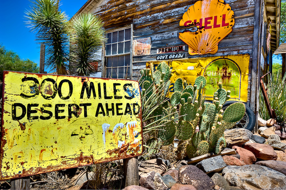 ROUTE 66, AZ - JUN 24: Rusted sign in Hackberry Arizona General Store taken June 24 of 2010. This is a very popular tourist destination.