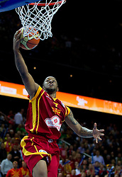 Bo McCalebb of Macedonia during basketball game between National basketball teams of Spain and F.Y.R. of Macedonia in Semifinals  of FIBA Europe Eurobasket Lithuania 2011, on September 16, 2011, in Arena Zalgirio, Kaunas, Lithuania.  (Photo by Vid Ponikvar / Sportida)