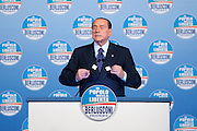 2013/01/25 Roma, il Popolo delle Liberta' apre la sua campagna elettorale. Nella foto Silvio Berlusconi..Freedom People Party open its electoral campaign. In the picture Silvio Berlusconi