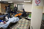 Wegen der starken Kälte hat Hamburg am 3. Dezember den ABC-Schutzbunker als Notunterkunft für Obdachlose geöffnet