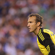 Chelsea goalkeeper Mark Schwarzer, in action during the Chelsea V AC Milan Guinness International Champions Cup tie at MetLife Stadium, East Rutherford, New Jersey, USA.  4th August 2013. Photo Tim Clayton