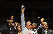 LIVERPOOL. Simon Hughes, Deputy leader of The Liberal Democrats, votes on diversity issues at  the Liberal Democrat Conference at the ACC arena on Liverpool Waterfront. 20th September 2010.STEPHEN SIMPSON.