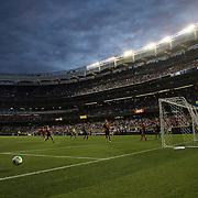 Action during the Spain V Ireland International Friendly football match at Yankee Stadium, The Bronx, New York. USA. 11th June 2013. Photo Tim Clayton