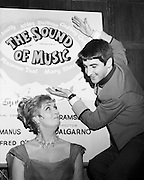 Maureen Toal and Jimmy Bartley advertising 'The Sound of Music'. The actress had a successful sixty-year career on stage and TV, including Abbey Theatre productions and TV's 'Glenroe'. Bartley has had roles in long-lasting TV series, including RTE's first soap, 'Tolka Row', and as Bela Doyle in 'Fair City'.<br />