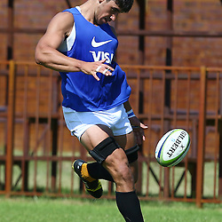 Cape Town, SOUTH AFRICA,  12, February  2016 -  Thomas Lavanini of the Jaguares during the Captain Run for The Jaguares at City Park Newlands Rugby Stadium Cape Town, South Africa. (Photo by Steve Haag)<br /> <br /> Images for social media must have consent from Steve Haag