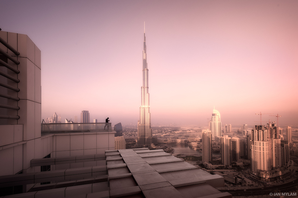 Business Bay and the Burj Khalifa - Dubai, U.A.E.