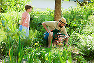 Father, Son, Gardening, Care, Skill, Dedication,