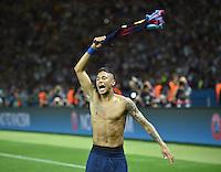 FUSSBALL  CHAMPIONS LEAGUE  FINALE  SAISON 2014/2015  06.06.2015 Juventus Turin - FC Barcelona JUBEL CHL Sieger 2015  FC Barcelona: Neymar