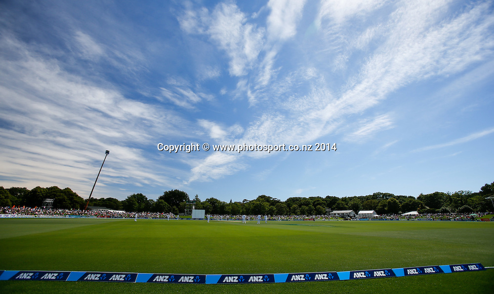 Hagley Park Oval. Day 2, ANZ Boxing Day Cricket Test, New Zealand Black Caps v Sri Lanka, 27 December 2014, Hagley Oval, Christchurch, New Zealand. Photo: John Cowpland / www.photosport.co.nz