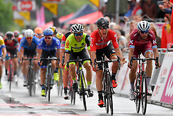 July 23, 2017 - Seraing, BELGIUM - Belgian Jasper De Buyst of Lotto Soudal beats Danish Michael Morkov of Katusha-Alpecin and French Justin Jules of WB Veranclassic Aqua Protect at the finish of the second stage of the 38th edition of the Tour de Wallonie (Ronde van Wallonie), 191,5km from Chaudfontaine to Seraing, Sunday 23 July 2017. This year's edition of the Tour de Wallonie takes plave from 22 to 26 July. BELGA PHOTO LUC CLAESSEN (Credit Image: © Luc Claessen/Belga via ZUMA Press)
