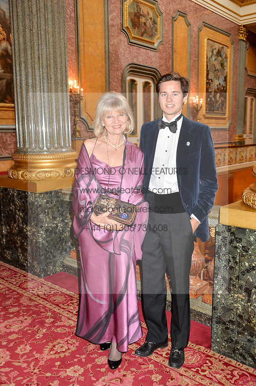 Artist BARBARA KACZMAROWSKA HAMILTON and her son MAXI HAMILTON at the Dream Ball in aid of The Princes's Trust and Big Chance held at Lancaster House, St.James's, London on 7th July 2016.