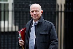 © Licensed to London News Pictures. 03/12/2012. London, UK. The British Foreign Secretary William Hague is seen on Downing Street in London today (03/12/12). Photo credit: Matt Cetti-Roberts/LNP