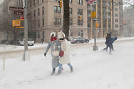 Braving fridgid temperatures on Fifth Avenue.