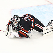 Clay Witt #31 of the Northeastern Huskies makes a save during The Beanpot Championship Game at TD Garden on February 10, 2014 in Boston, Massachusetts. (Photo by Elan Kawesch)