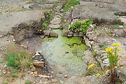 SAVEOCK WATER, CORNWALL, ENGLAND - AUGUST 02: A general view of Neolithic mirror pool lined with white quartz on August 2, 2008 in Saveock Water, Cornwall, England. Excavated by archaeologist Jacqui Wood and her team. (Photo by Manuel Cohen)