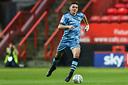 Forest Green Rovers Liam Kitching(20) runs forward during the EFL Cup match between Charlton Athletic and Forest Green Rovers at The Valley, London, England on 13 August 2019.