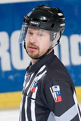 Linesman Crt Kralj during ice-hockey match between HK Olimpija and HK Jesenice Mladi in SLOHOKEJ league, on Januar 8, 2011 at Hala Tivoli, Ljubljana, Slovenia. (Photo By Matic Klansek Velej / Sportida.com)