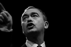 Brighton, UK. Leader of the British Liberal Democrats party, Tim Farron MP holds a closing speech at the Liberal Democrats Autumn Conference In Brighton. Photo Credit: Hugo Michiels