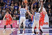 DESCRIZIONE : Campionato 2015/16 Serie A Beko Dinamo Banco di Sardegna Sassari - Grissin Bon Reggio Emilia<br /> GIOCATORE : Rok Stipcevic<br /> CATEGORIA : Tiro Tre Punti Three Point Controcampo<br /> SQUADRA : Dinamo Banco di Sardegna Sassari<br /> EVENTO : LegaBasket Serie A Beko 2015/2016<br /> GARA : Dinamo Banco di Sardegna Sassari - Grissin Bon Reggio Emilia<br /> DATA : 23/12/2015<br /> SPORT : Pallacanestro <br /> AUTORE : Agenzia Ciamillo-Castoria/L.Canu