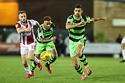 Forest Green Rovers Omar Bugiel(11) runs forward during the EFL Sky Bet League 2 match between Forest Green Rovers and Cheltenham Town at the New Lawn, Forest Green, United Kingdom on 25 November 2017. Photo by Shane Healey.