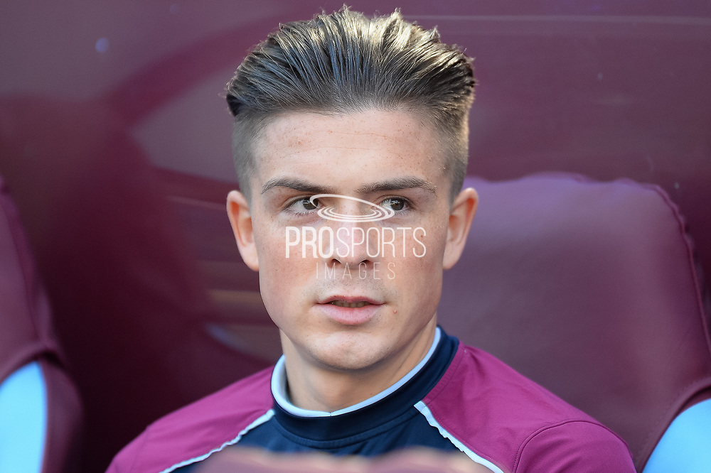 Portrait of Aston Villa midfielder Jack Grealish (40) during the EFL Sky Bet Championship match between Aston Villa and Reading at Villa Park, Birmingham, England on 15 April 2017. Photo by Dennis Goodwin.