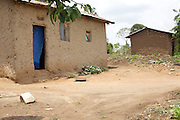 A rural view of a typical house near Kashare Level 3 Health Centre, Uganda.