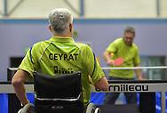 09/12/15 - CEYRAT - PUY DE DOME - FRANCE - Entrainement handisport de tennis de table au club de Ceyrat - Photo Jerome CHABANNE