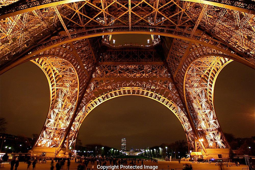 Eiffel Tower base, Paris, France