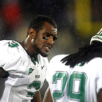 Marshall wide receiver Aaron Dobson (3) shows his frustration to Marshall running back Martin Ward (29) during an NCAA football game between the Marshall Thundering Herd and the Central Florida Knights at Bright House Networks Stadium on Saturday, October 8, 2011 in Orlando, Florida. (Photo/Alex Menendez)