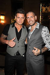Left to right, KEITH DUFFY and SHANE LYNCH singers from Boyzone at The inaugural Quintessentially Awards held at the Freemason's Hall, Covent Garden, London on 1st June 2010.