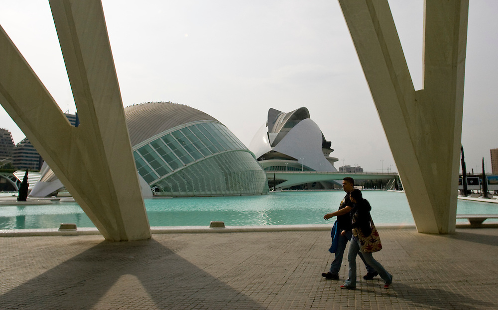 (Valencia, Spain - May 2, 2011) -  The Ciudad de Artes y Ciencias in Valencia. Photo by Will Nunnally / Will Nunnally Photography