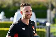Marc Pugh (7) of AFC Bournemouth arriving at the Vitality Stadium before the Premier League match between Bournemouth and Manchester United at the Vitality Stadium, Bournemouth, England on 18 April 2018. Picture by Graham Hunt.