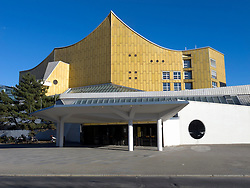 The Philharmonie concert hall home of the Berlin Philharmonic orchestra in Berlin Germany
