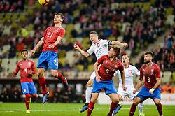November 15, 2018 - Gdansk, Poland, DAVID PAVELKA from Czech Republic (L) and ROBERT LEWANDOWSKI from Poland (R) during football friendly match between Poland - Czech Republic at the Stadion Energa in Gdansk, Poland