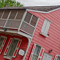 Balcolny house. Historic house in the Down town area of Nassau. Tourist Attraction and Historic Site