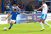 Macclesfield Town midfielder Connor Kirby in action during the EFL Sky Bet League 2 match between Macclesfield Town and Crawley Town at Moss Rose, Macclesfield, United Kingdom on 7 September 2019.